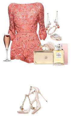"""Untitled #1121"" by amandalampiasi ❤ liked on Polyvore featuring Elie Saab, Dsquared2, Alexander McQueen, Chanel, CC SKYE, Honora, Allurez, women's clothing, women's fashion and women"