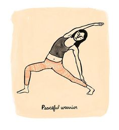Yoga Girls Print by leahgoren on Etsy