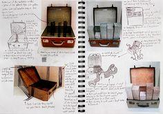 NCEA Level 3 Sculpture sketchbook