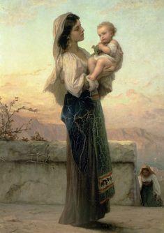 Adolphe Jourdan : Vierge et enfant