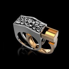 "Ring ""Secret"". 14 К Gold or silver 925 ring. Man ring. Woman ring. Gift for her. Gift for him. Perso"