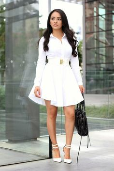 Maytedoll: Celebrity Look For Less: Kylie Jenner White Shirt Dress