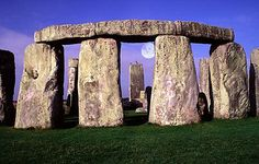 Stonehenge, Wiltshire England A circle of seventeen stones in a circle about 50 tons each with cross stones called mantles. Each stone would have taken 600 men to move it before modern times of moving massive equipment.