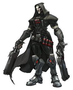 Overwatch - Reaper Concept, Arnold Tsang on ArtStation at http://www.artstation.com/artwork/overwatch-reaper-concept