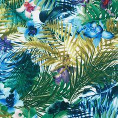 Tissu viscose jungle vert - Tissus imprimés - MODE Mondial Tissus