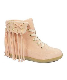 Another great find on #zulily! Blush Inga Fringe Bootie by HeartSOUL #zulilyfinds