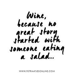 Wine on Saturday evening, need we say more? www.9straatjesonline.com