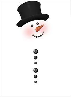 Patty Wraps: Snowman Rolo Wrapper - free printable