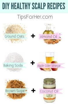 DIY Healthy Scalp Recipes for cleansing and growing your hair long!