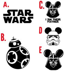 These are perfect for all of the Star War fans and make perfect family shirts for Disney trips! Also, fun shirts to wear to Hollywood Studios!  These will be in black vinyl and the design will be large in the middle of the shirt.  A name can be added under all of them besides the Star Wars or I am their father designs. Font will be Walt (Disney font)  Long sleeve and Short Sleeve shirts are available in these! Color options and designs are listed in the pictures.  Child sizes: S-L Short…