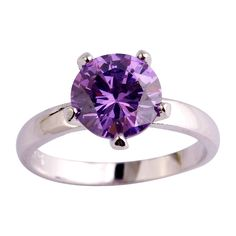 Click link to buy Size 12  Round Cu... http://www.jeremiahjewelry.online/products/purple-12-new-fashion-round-cut-pretty-solitaire-charming-purple-amethyst-silver-ring-size-6-7-8-9-10-11-12-free-shipping-wholesale?utm_campaign=social_autopilot&utm_source=pin&utm_medium=pin @JeremiahJewelry.Online