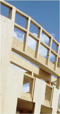 Timber-frame house under construction House Under Construction, Modern Materials, Multi Story Building, Around The Worlds, Wood, Frame, Picture Frame, Woodwind Instrument, Timber Wood