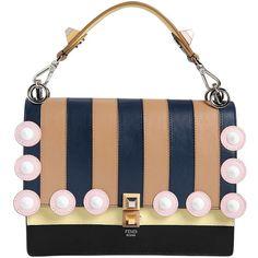300decd5146 Fendi Women Medium Kan I Striped Leather Bag (€2.730) ❤ liked on Polyvore