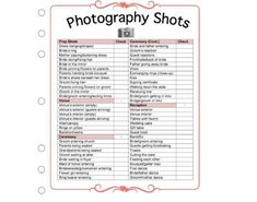 Digital download (1 Photo, 1 PDF, 1 Microsoft Word file) An absolute necessity during wedding season, this wedding checklist template will help you keep track of your clients wedding day and ensure you dont miss any of their must-have shots! Easily change the text, color or simply save as a jpg Wedding Checklist Template, Wedding Checklist Timeline, Wedding Checklist Detailed, Wedding Photography Checklist, Wedding Planning Checklist, Photography Contract, Photography Business, Couple Photography, Photography Poses