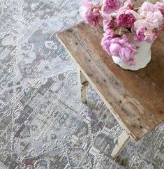 Pair vintage finds with our Shabby Chic Rug collection. Tap the image to shop. Shabby Chic Rug, Shabby Chic Cottage, Shabby Chic Homes, Shabby Chic Furniture, Blush And Grey, Luxury Bedding, Interior Decorating, Decorating Ideas, Beautiful Homes