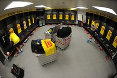 30th May, 2015. Arsenal changing room before the match at Wembley stadium!