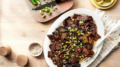 Korean Beef Recipes, Meat Recipes, Asian Recipes, Cooking Recipes, Oriental Recipes, Sesame Beef, Bulgogi, Beef Dishes, Vegetable Dishes