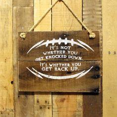 Football Rustic Wood Sign  Boys Room Decor by EverydayCreationsJen