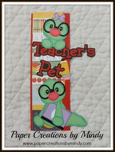 TOCG School teachers pet premade border Scrapbook page premade paper piecing