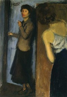 """Raphael Soyer (1899–1987), The Roomates, c.1934, oil on canvas, 32"""" x 22"""""""