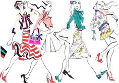 Illustration for Gucci 2016 collections