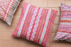 A unique pillow case created from vintage HMONG textile batik & embroidered ethnic made a piece of tradition costume, reverse made of hand woven natural hemp from burma.  +Stunning vintage handmade tradition ethnic textile hand woven and dyed with care+ +Made Of Tradition Ethnic Hmong Nature Handmade Hemp+ +Unique tribal Tradition design+ + Hand embroidered of Hmong design + + Eco friendly +  measurements 20 x 20  *Create from old use costume may have some stain or pale. please look…