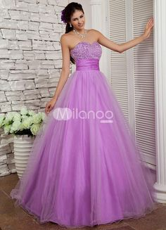Lavender Beading Sweetheart Organza Satin Prom Dress. Every girl dreams of being a princess. Although few of us get the chance, here at Milanoo we can definitely help you dress the part with one of our fabulous princess-inspired gowns �like this one. It is made from a lovely s.. . See More SweetHeart at http://www.ourgreatshop.com/SweetHeart-C951.aspx