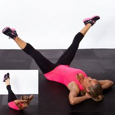 Scissor Cross Crunch - Triple Threat Workout: Tone Your Belly, Butt, & Thighs - Shape Magazine - Page 7