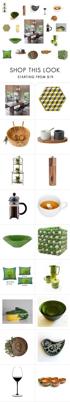 """""""Dining table Ideas retro green"""" by einder ❤ liked on Polyvore featuring interior, interiors, interior design, home, home decor, interior decorating, Zingz & Thingz, Peugeot, Sagaform and Villeroy & Boch"""