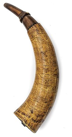 Exquisitely Engraved French and Indian War Powder Horn to Samuel Livingston - Cowan's Auctions