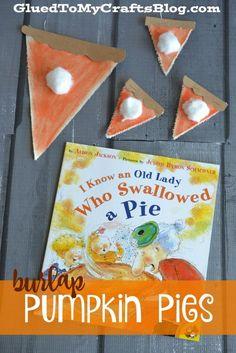 Burlap Pumpkin Pies - Kid Craft