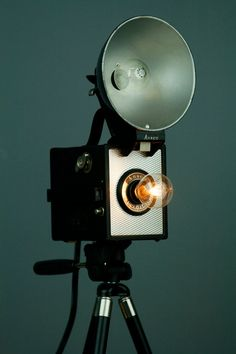 Amazing: a vintage Ansco camera is reborn as a lamp.