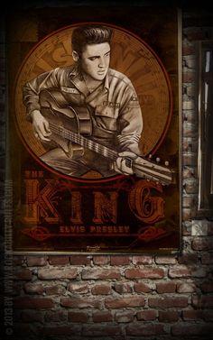 Rumble59 Poster - Young Elvis - The King auf Poster gebannt - hochwertig gedruckt auf starkem Papier im DIN A Format - Rockabilly-Rules.com