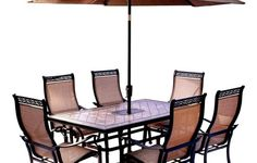 patio table and chairs with umbrella - Home Decor