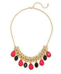 Luxe and Matte Necklace - Pink and Blue #shoplately