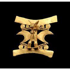 Pre-Columbian gold ornament, Peru