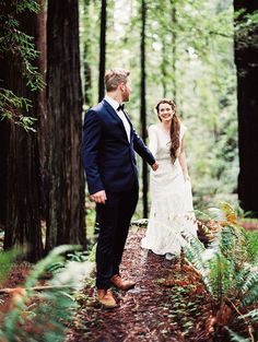 Down the Forest Path | Perry Vaile Photography | http://heyweddinglady.com/fine-art-adventure-loving-redwood-elopement/