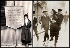 """On October 20, 1917, Alice Paul was arrested while peacefully picketing in front of the White House in support of women's suffrage. She carried a banner that quoted President Woodrow Wilson (who opposed women's suffrage) which read """"The time has come to conquer or submit, for us there can be one choice. We have made it."""" She was sentenced to seven months' imprisonment at the Occoquan Workhouse."""