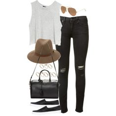 """""""inspired outfit with a day out with friends"""" by whathayleywore on Polyvore"""