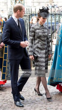 Catherine, Duchess of Cambridge and Prince William, Duke of Cambridge attend Service of Hope at Westminster Abbey on April 5, 2017 in London, England. The service was held in memory of those who lost their lives in the Westminster terror attack on 22 March, 2017.
