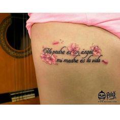 "567 Me gusta, 1 comentarios - Tatuajes- Tattoos (@galeriaoftatuaje) en Instagram: ""Mi padre es un angel, mi madre es la vida ❤ #tatuajes #tatuaje #tattoos #tattoo"""