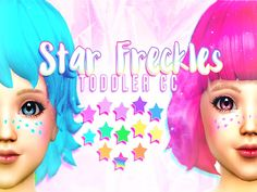 These are adorable Star Freckles I made for toddlers, they can be found in the Face paint section. They come in a Variety of different colors, 13 to be exact plus a Rainbow Gradient. They also can...