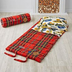 Shop Plaid Sleeping Bag.  There's nothing quite like braving the untamed wilderness of the living room.