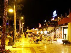 Tenerife Playa de las Americas, at Night.