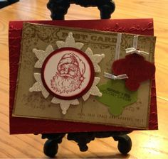 3 Monkeys throwing around some....PAPER!!!: Stampin' Up Postcard Ornament Punch Christmas Card