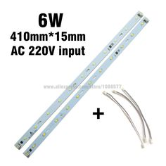 New Arrival 220v 6w SMD5730 Aluminum Plate, 410mm*15mm Rectangle light panel integrated IC driver LED Tube PCB