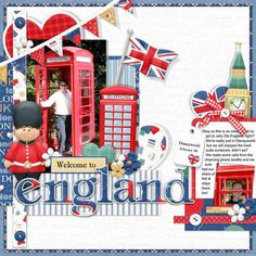 Scrapbook page of London.