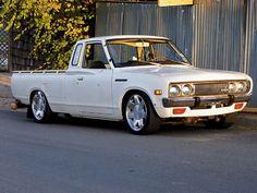 Read about the history of Datsun, Toyota, Mazda, and Chevrolet Mini trucks, only in Mini Truckin' Magazine. Hot Rod Trucks, Mini Trucks, Cool Trucks, Pickup Trucks, Cool Cars, My Dream Car, Dream Cars, Datsun Car, Nissan Trucks