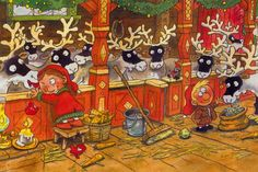 by Mauri Kunnas Christmas Gnome, Christmas Books, Christmas Cards, Xmas, Winter Illustration, Illustration Art, Comic Drawing, Yule, Winter Holidays