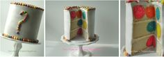 Once Upon A Pedestal: Surprise Inside Cake - Hidden Polka Dots Recipe and Tutorial
